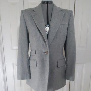 LAUREN RALPH LAUREN Gray Blazer Size 8
